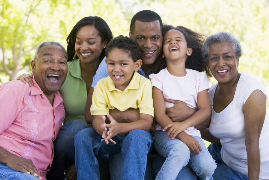 smiling african american family